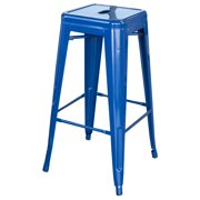 AmeriHome Loft Blue 30 in. Metal Bar Stool 4 Piece by Buffalo Corp