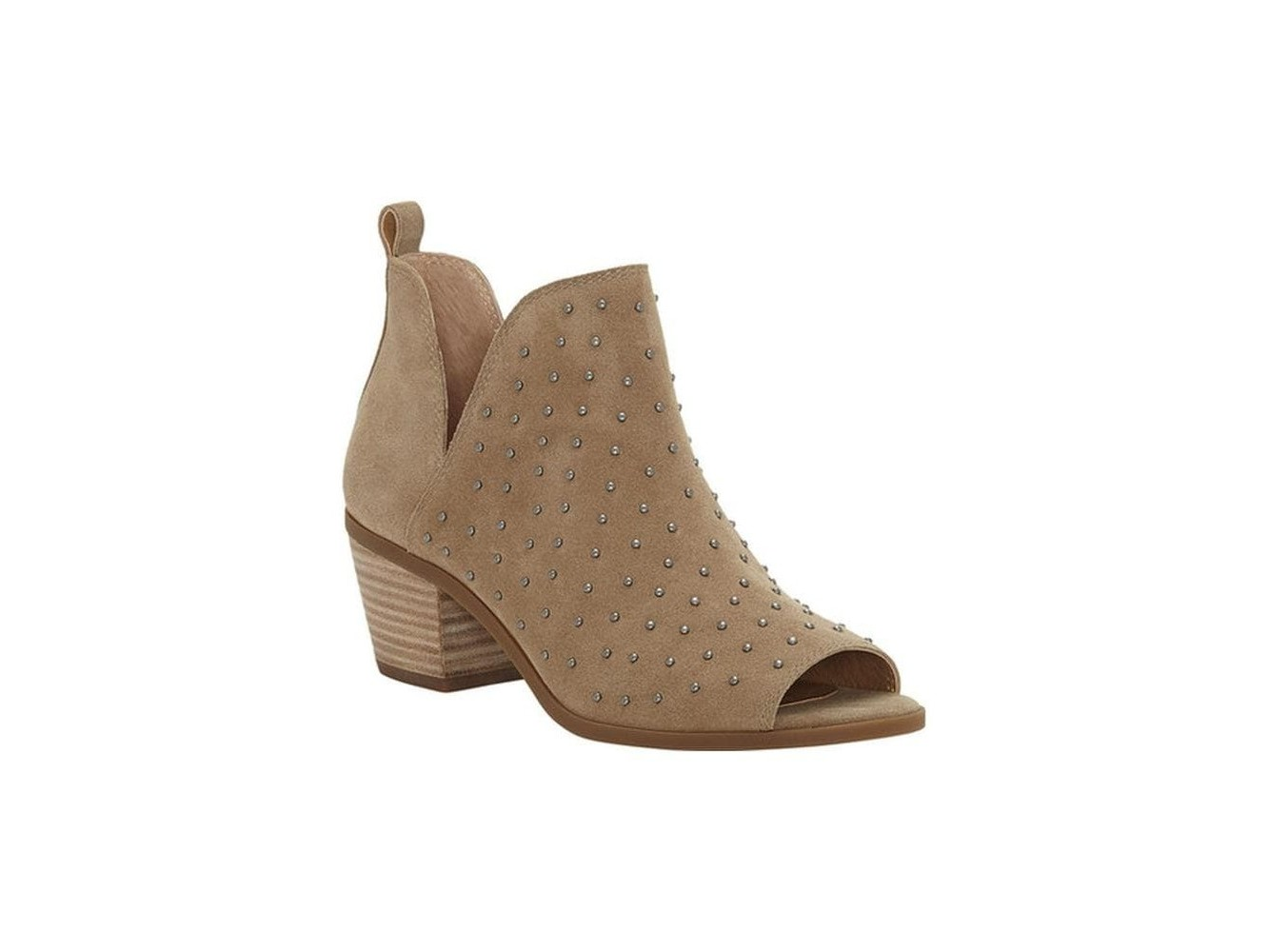 a75f9a166f6c Lucky Brand Womens Barlenna Leather Peep Toe Ankle