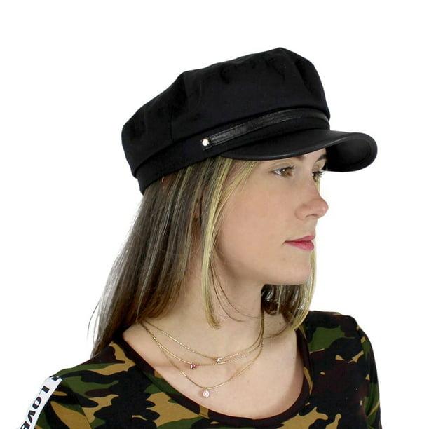A&O - Women's Newsboy Cap PU Brim Baker Boy Hat One Size - Walmart.com -  Walmart.com
