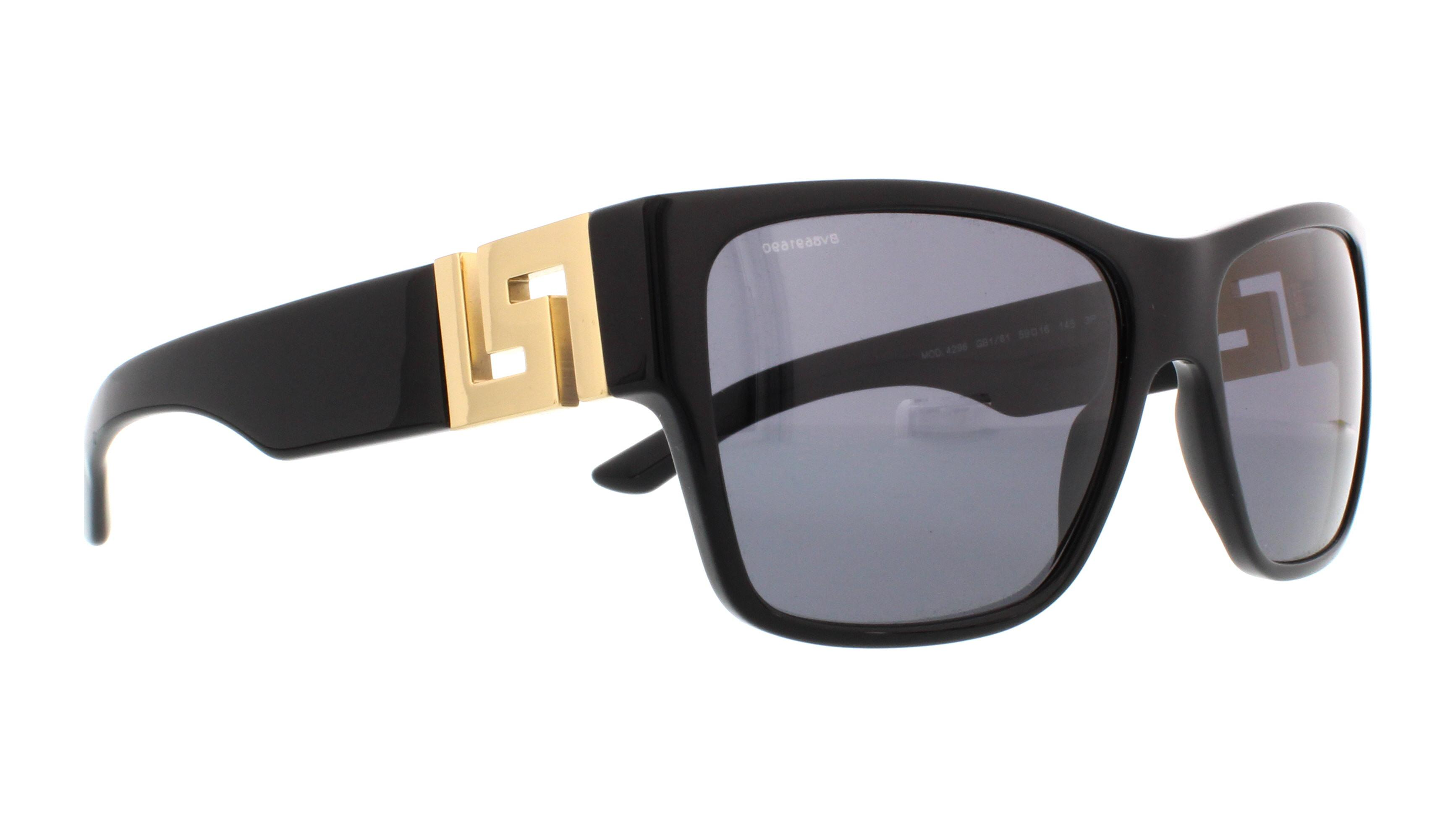 eb8a6948b7 Versace - VERSACE Sunglasses VE4296 GB1 81 Black 59MM - Walmart.com