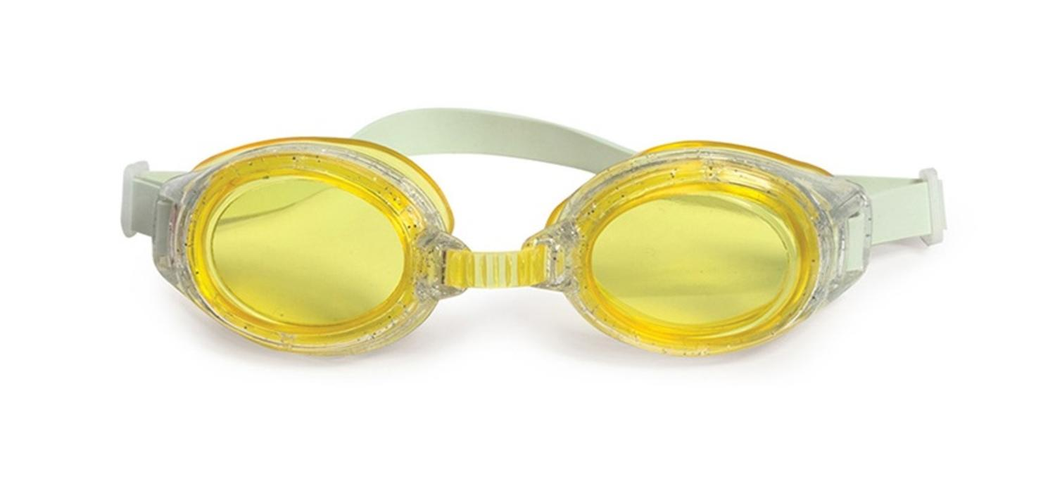 """6"""" Junior Sparkle Yellow Goggles Swimming Pool Accessory for Children by Swim Central"""