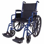 "Carex Classics Wheelchair with Swing Away Footrests, 20"" Seat, Blue"