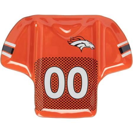 Denver Broncos Glass Jersey Chip And Dip - No Size