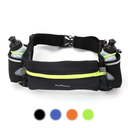 Running Hydration Fuel Belt with Water Bottle for Women and Men - Waist Pack for Marathon, Race, Fits iPhone 6 7 8 Plus and Other