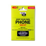 "Straight Talk 4G LTE ""Keep Your Own Phone SIM Kit"" SIM Card (Verizon, Sprint, CDMA-Compatible)"