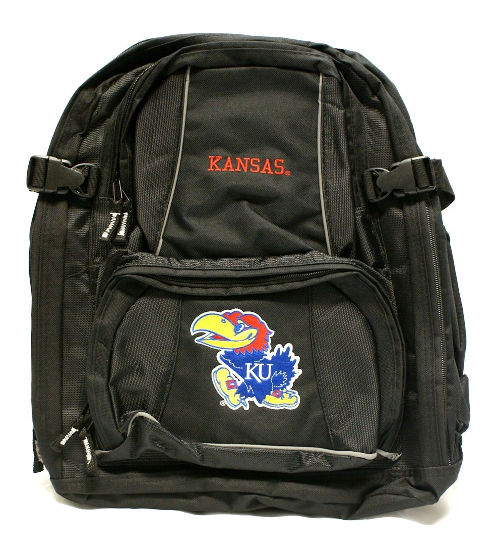 NCAA - Kansas Jayhawks Black Trooper Backpack