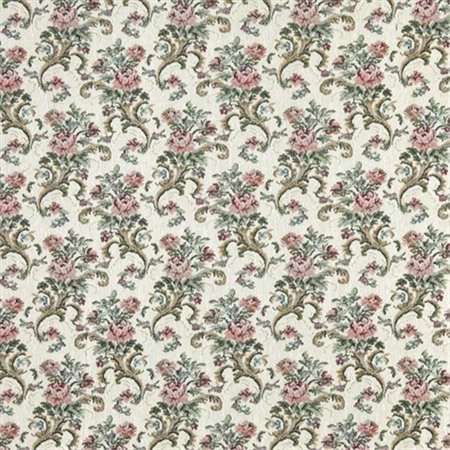 Simonis 860 Burgundy Cloth - Designer Fabrics H860 54 inch Wide Burgundy, Green And Ivory, Floral Tapestry Upholstery Fabric