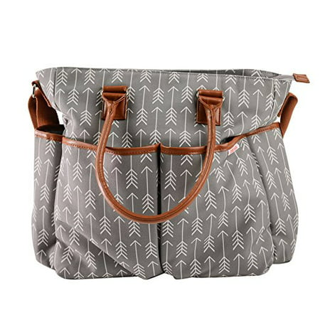 Diaper Bag For Boys & Girls With Matching Baby Changing Pad By Danha – Multi-function – Practical Shoulder & Stroller Straps – Internal & External Pockets – Striking Arrow Patterns,Large Travel (Coach Peyton Signature Multifunction Tote And Diaper Bag)
