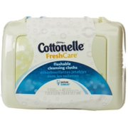 Cottonelle Fresh Flushable Moist Wipes Pop-Up Tub 42 Each (Pack of 2)