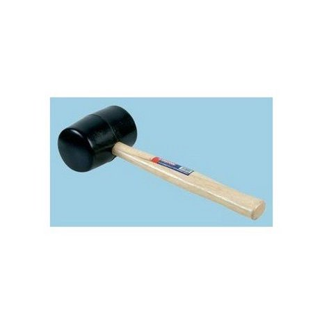 Duratool D00091 Rubber Mallet With A Sturdy Wooden Handle For Striking Chisels