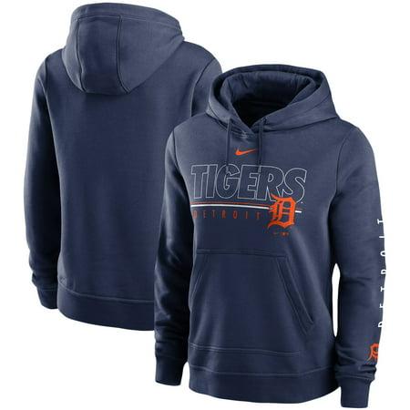 Detroit Tigers Nike Women's Team Outline Club Pullover Hoodie - Navy