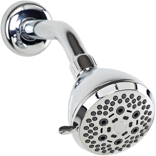 Bath Bliss 6-Function Fixed Shower Head, Chrome
