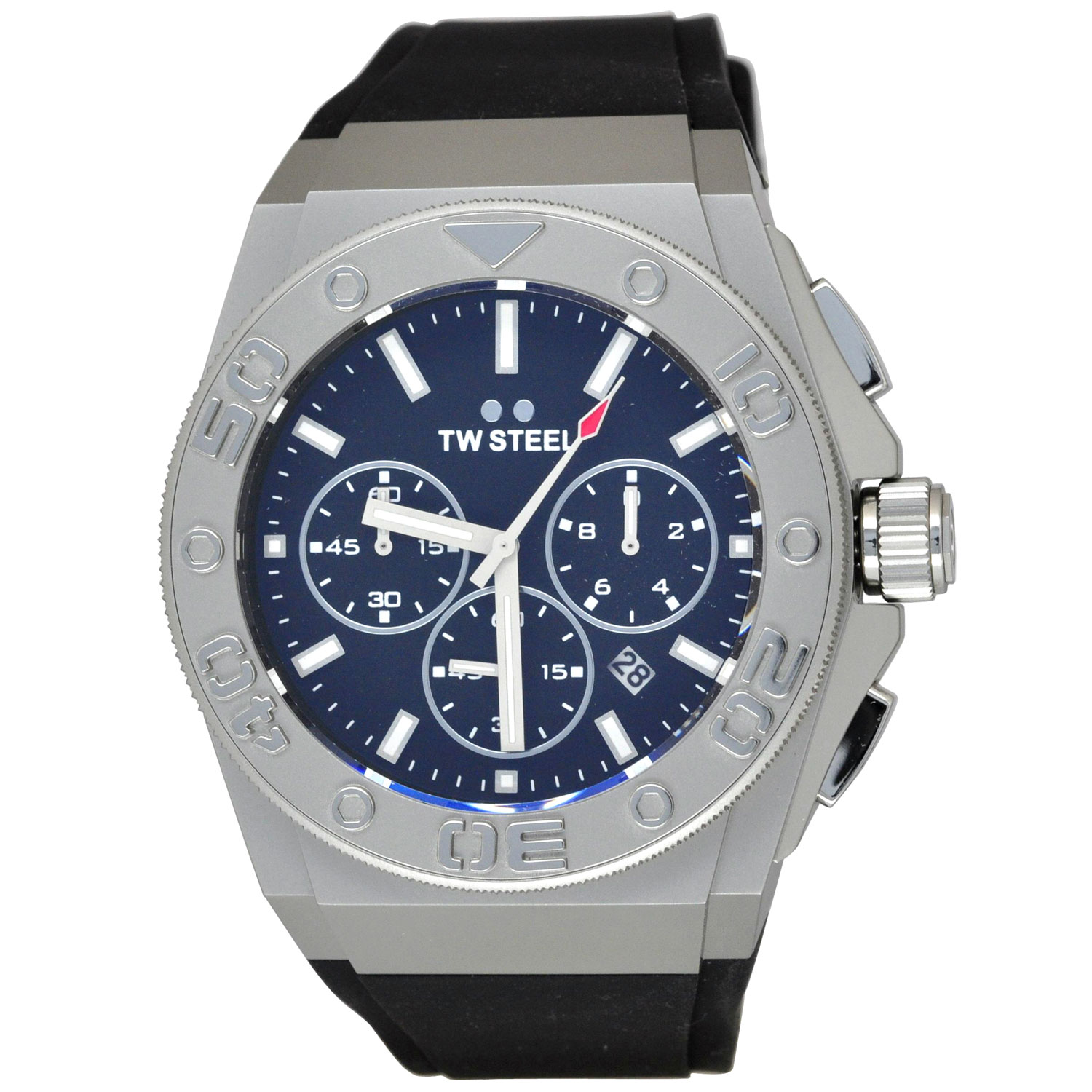 TW Steel CE5009 Men's CEO Diver Black Dial Black Silicone Strap Chronograph Watch