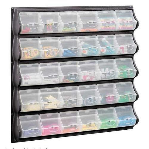 SAFCO 6111BL Plastic Bins, 30 Compartments