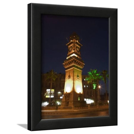 Clock Tower, Downtown at Night, Aleppo (Haleb), Syria, Middle East Framed Print Wall Art By Christian - Downtown East Halloween Night