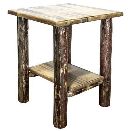 Glacier Country Collection Nightstand with Shelf Bedroom French Country Nightstand