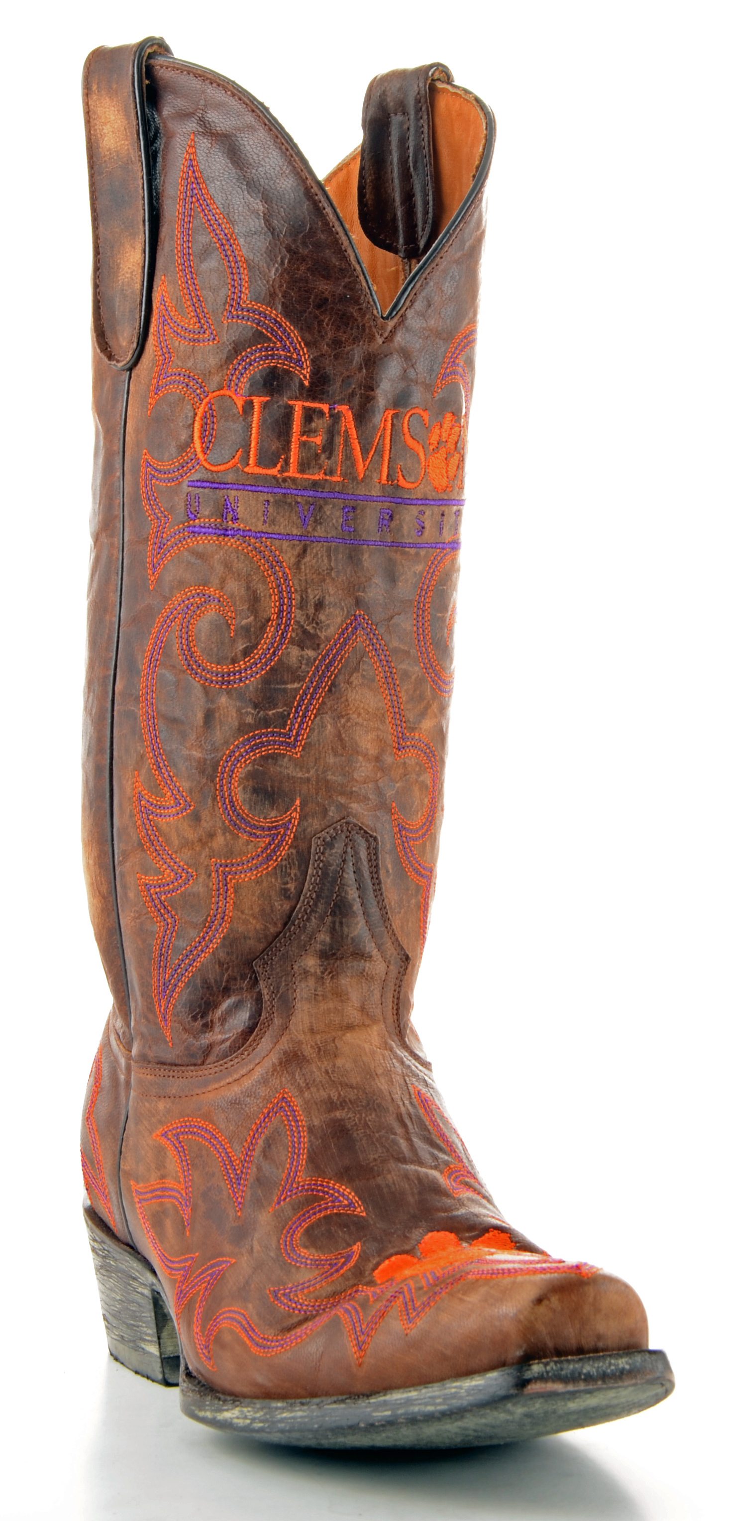 Gameday Boots Mens Leather Clemson Cowboy Boots by GameDay Boots