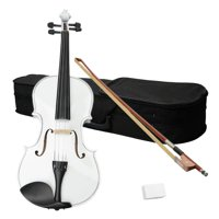 Ktaxon 16 inch Acoustic Viola with Case, Bow, Rosin for Beginners Viola Starter Kit White
