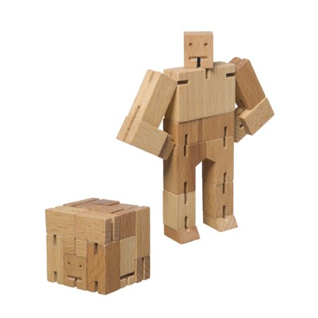 Wood Puzzle Toy - Cubebot Micro - Wooden Puzzle Robot Toy Wood