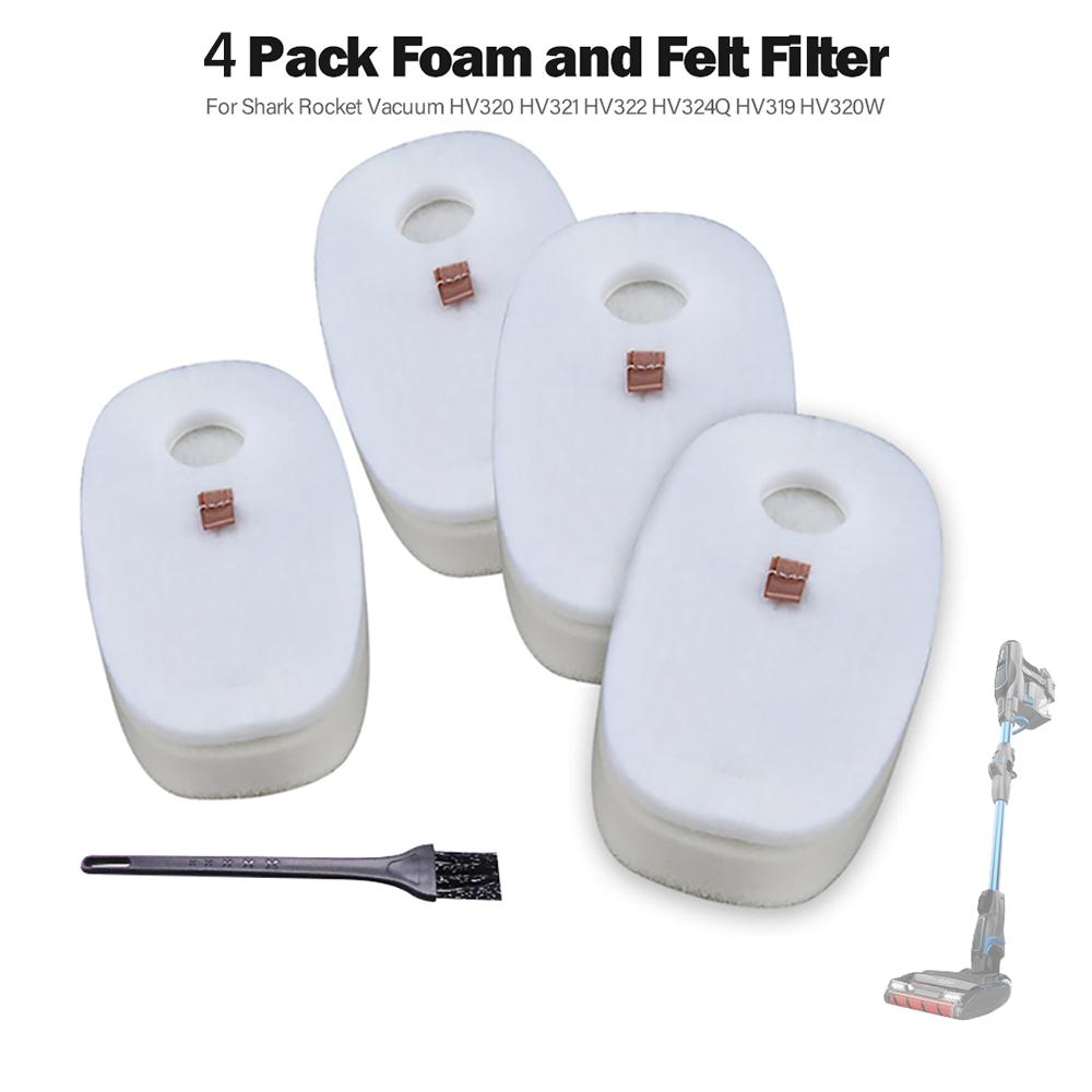 1 Set Foam Felt Filter for Shark Rocket HV320//HV321//HV322//HV324Q//HV319//HV320W White