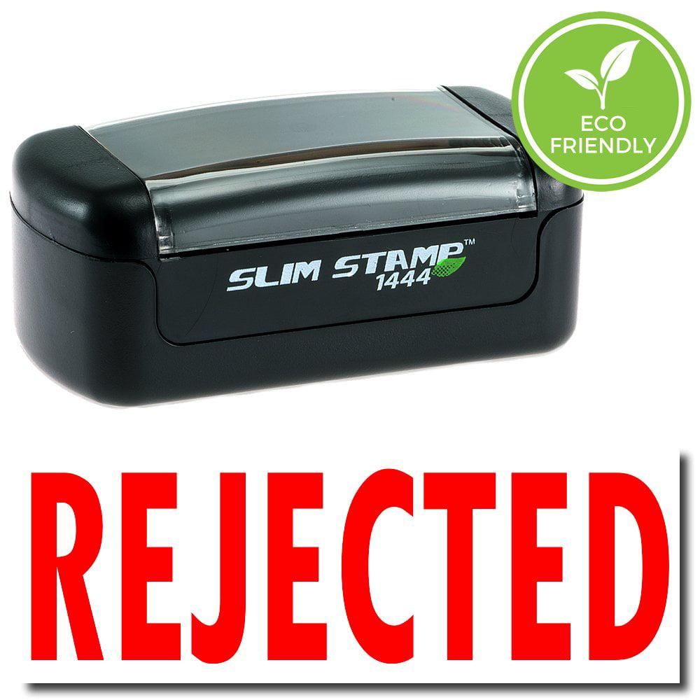 Slim Pre-Inked Rejected Stamp with Black Ink