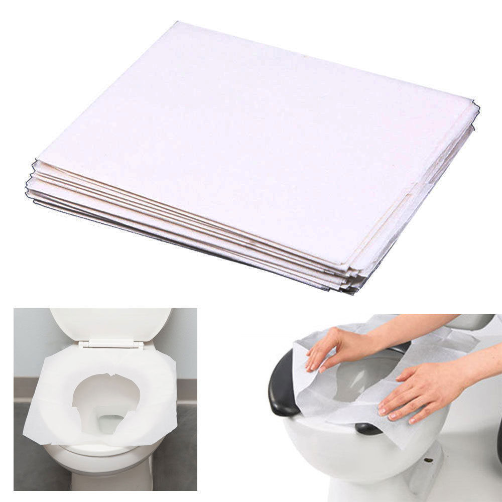 10-100pcs Toilet Seat Paper Sanitary Covers Disposable Travel Biodegradable