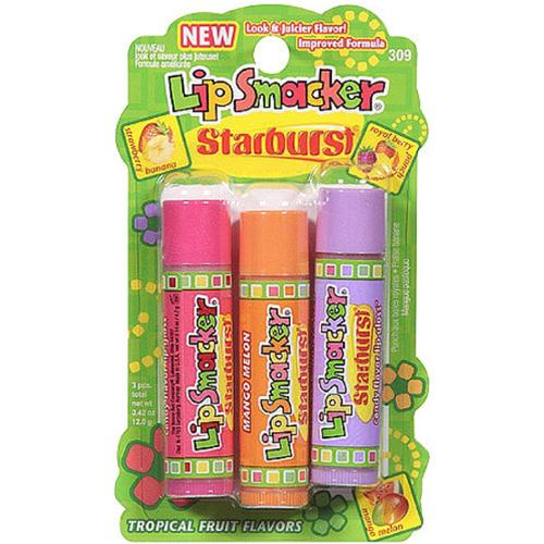 Lip Smacker Starburst Trio Lip Gloss, Tropical Fruit Flavors 3 ea 0.42 oz
