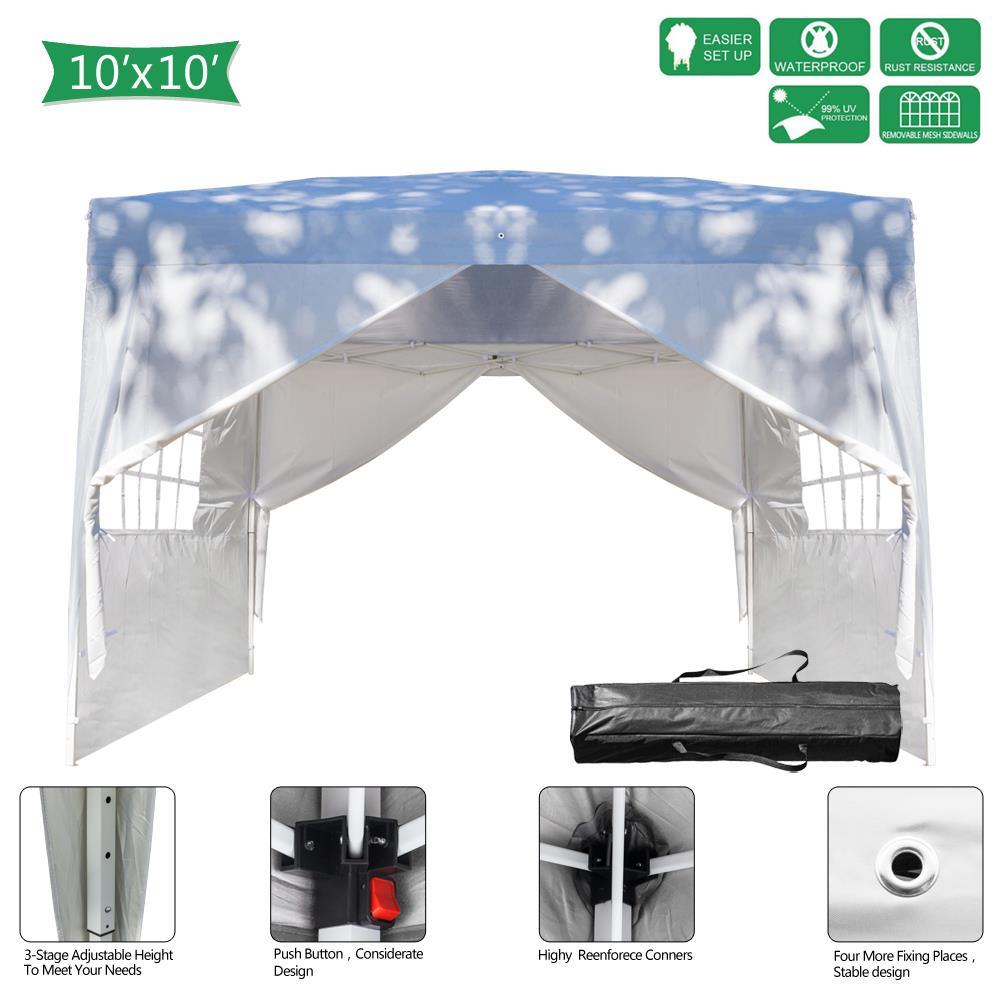 Ktaxon 10 X10 Canopy Wedding Party Tent Pop Up Gazebo 4
