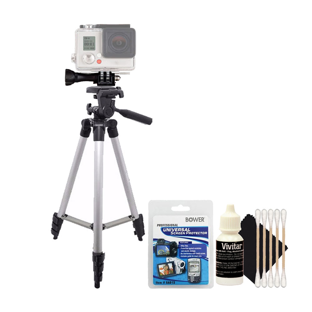 Tall Tripod with Screen Protector Kit and 3pc Cleaning Kit  and All Digital Cameras