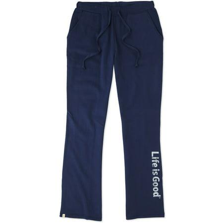 Life is Good. Women's Fleece Lounge Pant - LIG Painted - Darkest Blue ()