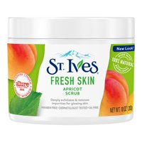 St. Ives Fresh Skin Face Scrub Apricot, Deeply Cleans, Smooth and Glowing Skin, Dermatologist-Tested, Natural Exfoliants 10 oz