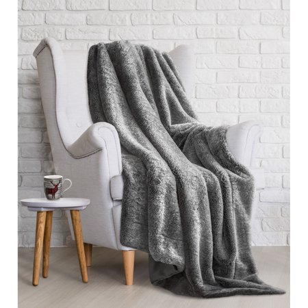 Safdie & Co. Throw Blanket Wildlife Faux Fur 50
