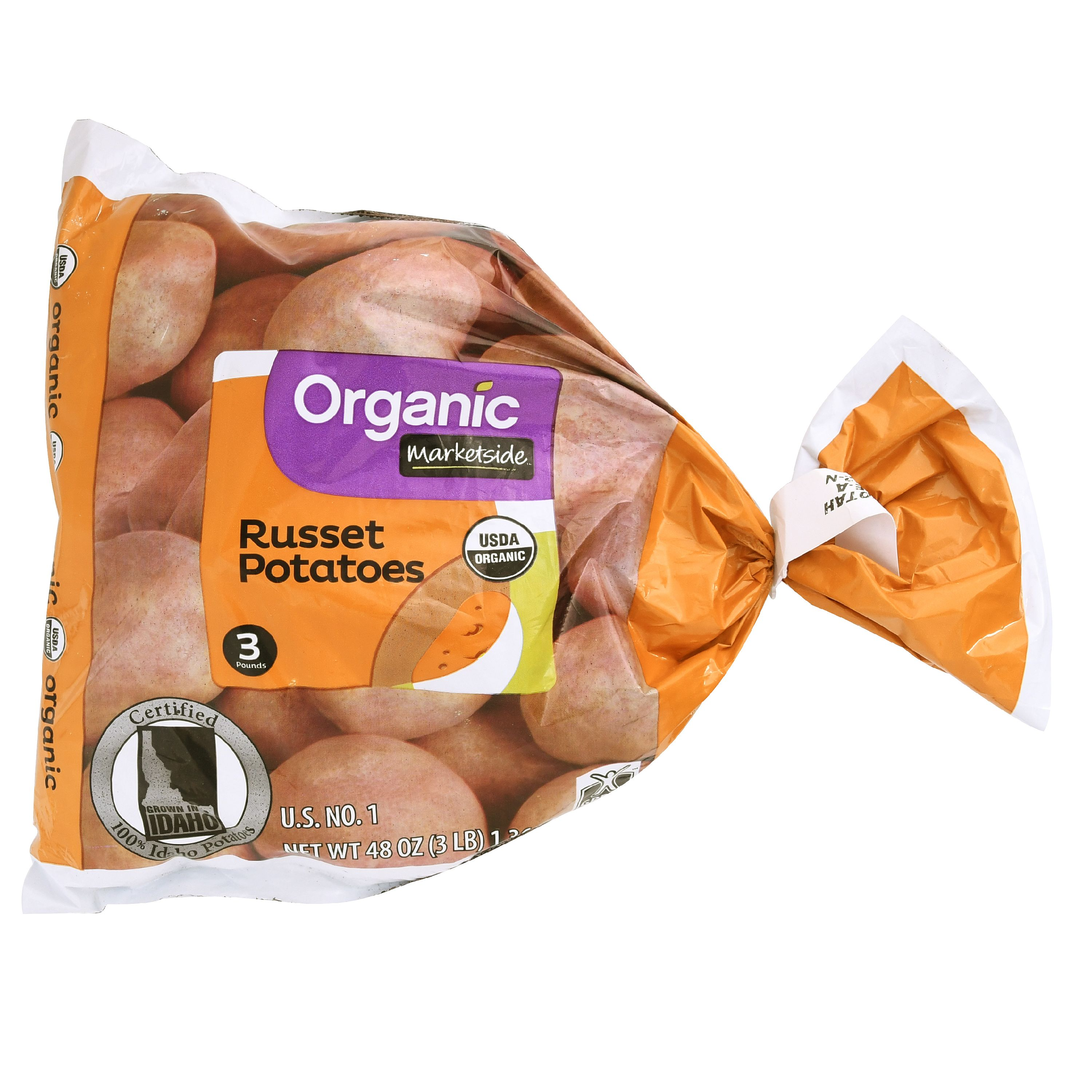 Marketside Organic Russet Potatoes, 3 lb Bag