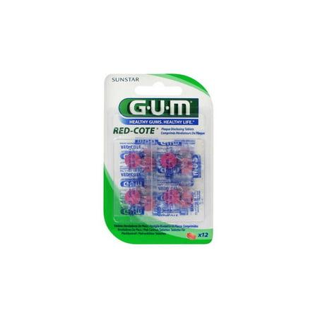 (GUM Red Cote Dental Plaque Revealer 12 tablets)