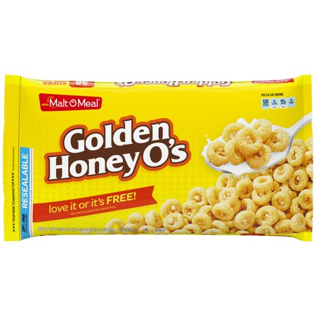 Malt-O-Meal Golden Honey O' s Breakfast Cereal, 36 Ounce