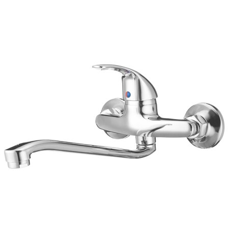 Wall Mount Kitchen Bathroom Sink Faucet Cold&Hot Water Mixer Tub Tap For RV/Mobile Home