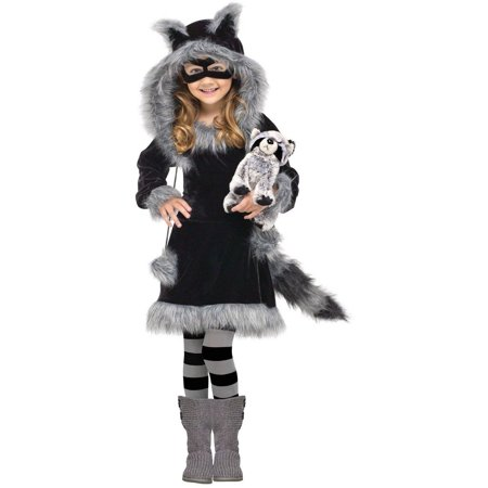 Sweet Raccoon Child Halloween Costume, Small (4-6) for $<!---->