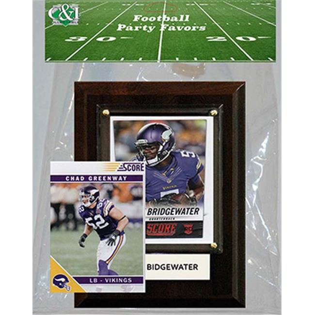 Candlcollectables 46LBVIKINGS NFL Minnesota Vikings Party Favor With 4 x 6 Plaque