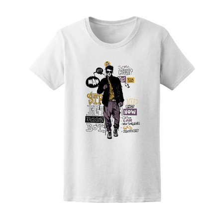 Fashion Hipster Guy Sketch Tee Men's -Image by (Indie Fashion Guys)