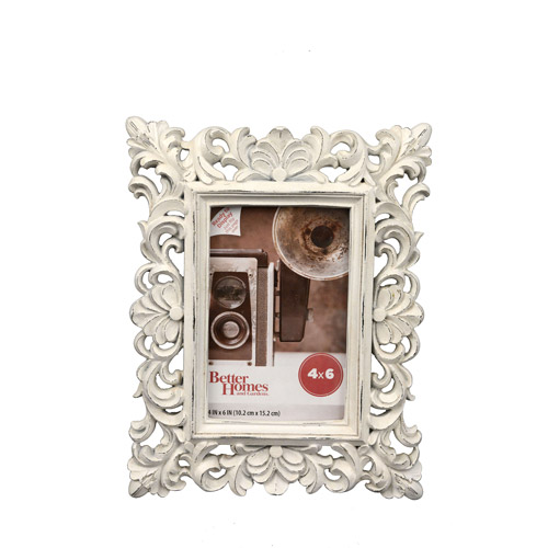 Better Homes and Gardens 4x6 White Ornate Frame