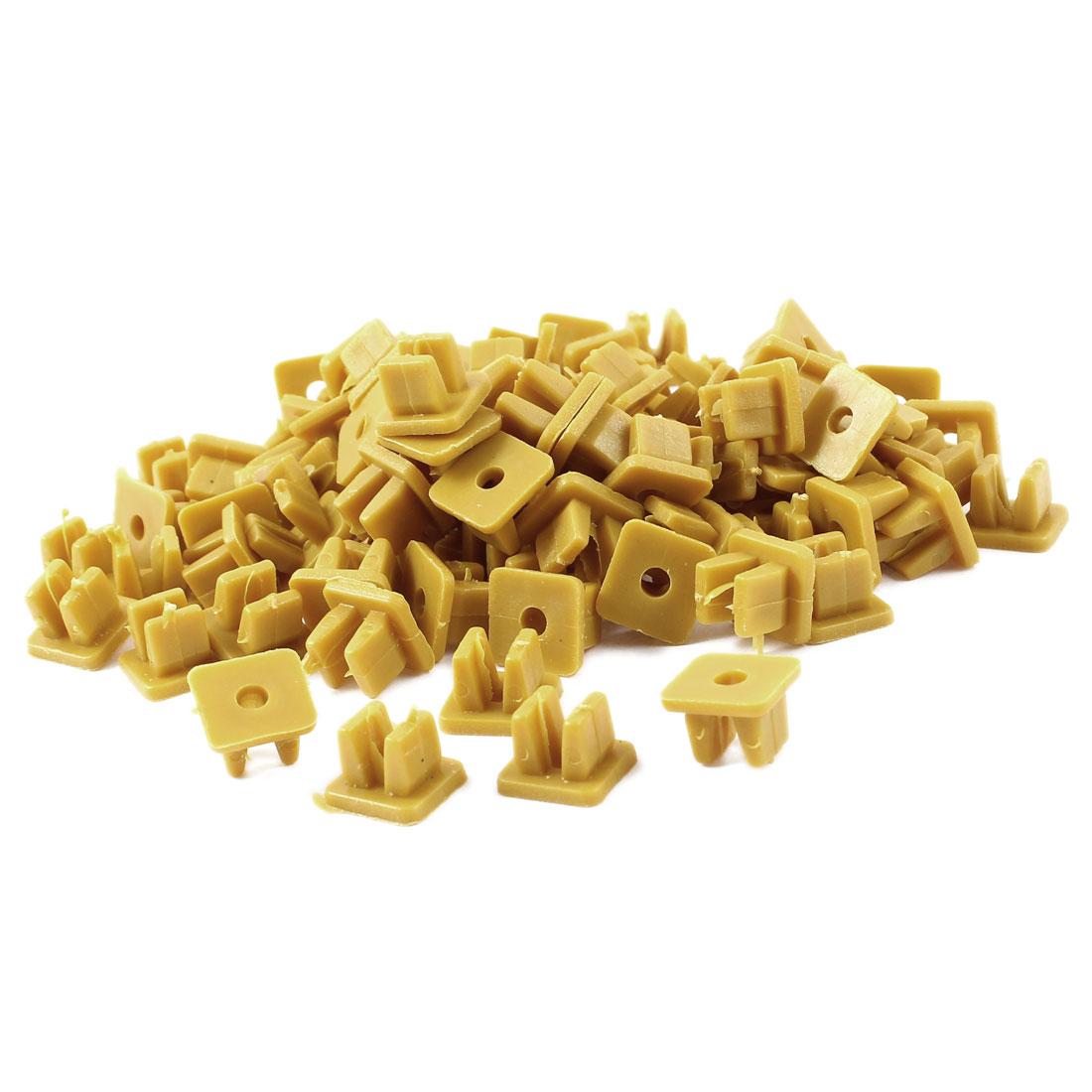 Unique Bargains Yellow 9mm x 8mm Hole Plastic Rivets Fastener 100 Pieces for Auto Car Door