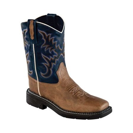 Old West Unisex Children's Square Toe Cowboy Boot - Child