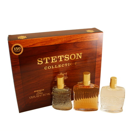 - Stetson Collection 3 Pc. Gift Set ( Stetson Fresh Cologne Splash 1.75 Oz + Stetson Original Cologne Splash 2.25 Oz + Stetson Caliber Cologne Splash 2.0 Oz )