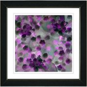 Studio Works Modern ''Popcorn Floral - Purple'' by Zhee Singer Framed Painting Print