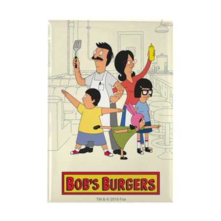 CafePress - Bob's Burger Hero Family - Rectangle Magnet, 2