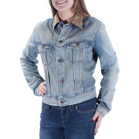 RALPH LAUREN Womens Blue Denim Jacket  Size: XL
