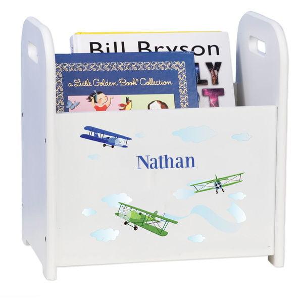 MyBambino Personalized Childs Book Storage Magazine Rack Bin Nursery Girls