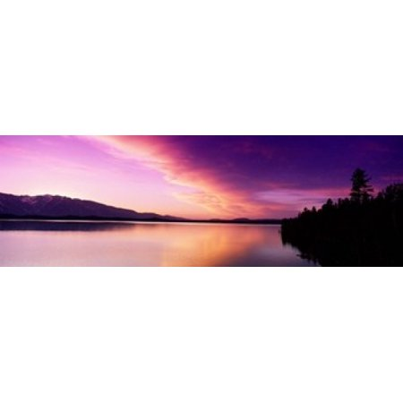 Sunset Jackson Lake Grand Teton National Park WY USA Poster Print