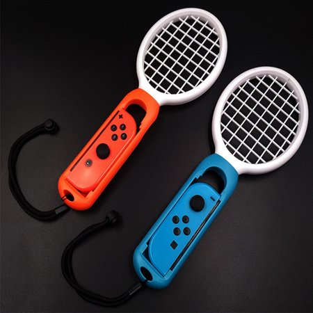 2pcs/set Tennis Racket for Switch Joy-Con Controller Left and Right Handle for M ario Tennis Aces Game Red+Blue](The Left Right Game For Halloween)