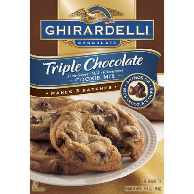 Ghirardelli Triple Chocolate Cookie Mix - 52.5 oz.